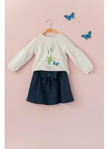 Cigit Lavender Bluz ve Etek Takım Taş